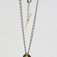 Alluvial drop pendant on chain