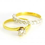 18ct gold, platinum and FG/VS round brilliant diamonds.
