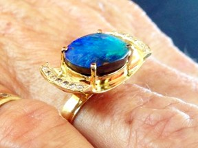 Queensland boulder opal, Kimberley diamonds, 18ct gold