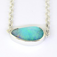 Queensland boulder opal in silver