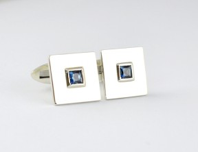 Queensland sapphire in sterling silver