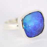 Queensland boulder opal in sterling silver
