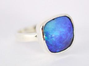 Queensland boulder opal in sterling silver