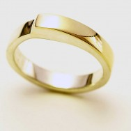 Sterling silver and 18ct yellow gold.