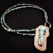 Ocean's Blue Opal Pendant