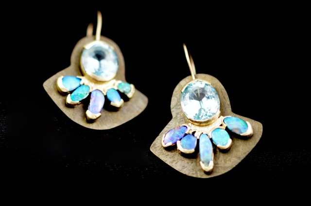 Ocean's blue Queensland gem earrings