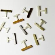 Mix and match cufflinks in shakudo, shibuichi, copper and pure silver.