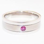 Palladium, titanium and pink sapphire