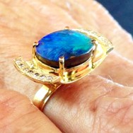 Queensland boulder opal, Kimberley diamonds, 18ct gold