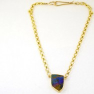 Queensland bolder opal and 18ct gold