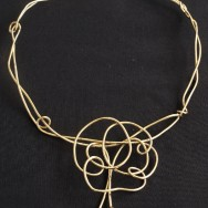 14ct yellow gold necklace with detachable pendant